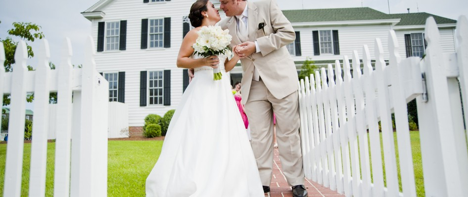 Manteo House Bride and Groom Front Gate